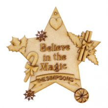 Christmas Magic Decorations, Personalised Family Name Set MDF Fun DIY Craft Kit